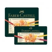 Polihromie zīmuļi Faber-Castell metāla penālī, 36 krāsas