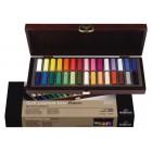 Pasteļu komplekts Rembrandt, 30 krāsas (pusītes) + koka kaste