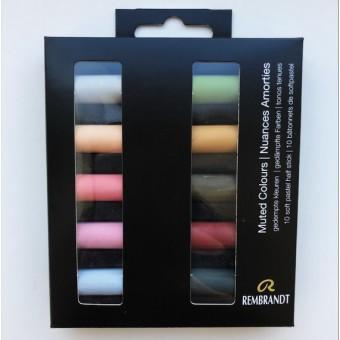 Sausie pasteļi Rembrandt '' Muted Colours'' 10 toņi