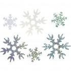Mini Ziemassvētku dekori sniegpārslas ,Ø 25-45mm